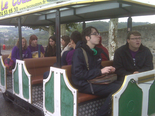 James and Remus on the tourist train