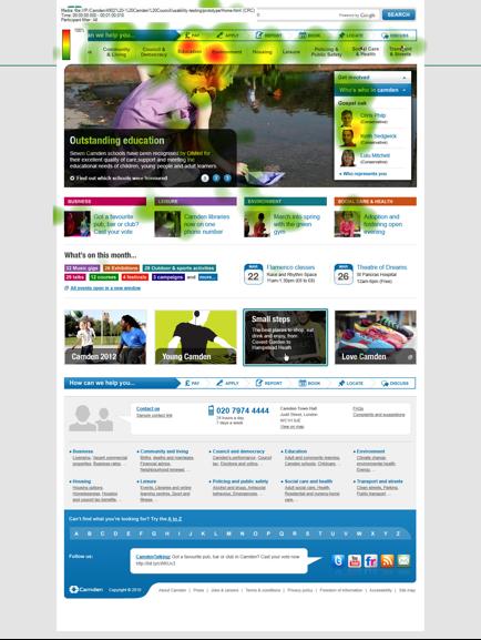 Eye tracking analysis of new website
