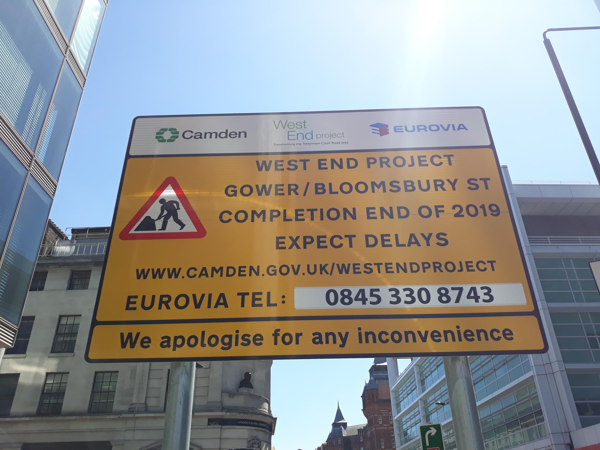 West End Project Sign
