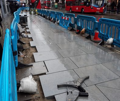 New Paving at New Oxford Street
