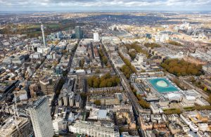 Tottenham Court Road seen from above